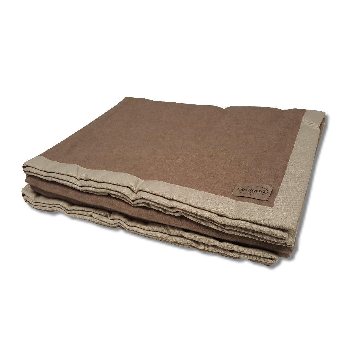 premium selection 8df7e 8595f Panno coperta in cashmere beige scuro Somma