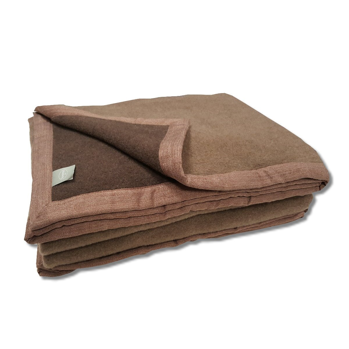 official photos 10d52 aff6c Panno coperta di lana terra brown Somma