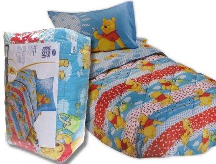 Trapunta Winnie The Pooh.Trapunta Caleffi Disney Pooh Garden Azzurra