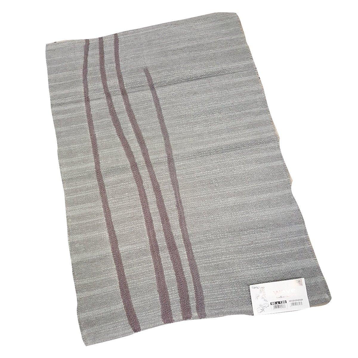 Tappeto bagno in puro cotone disponibile in vari colori - Tappeto grigio chiaro ...